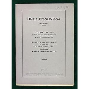 Sinica Franciscana. Volumen VII. Relationes et Epistolas: Mensaert, P. Georgius
