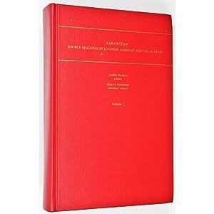 Karawitan. Source Readings in Javanese Gamelan and: Becker, Judith &
