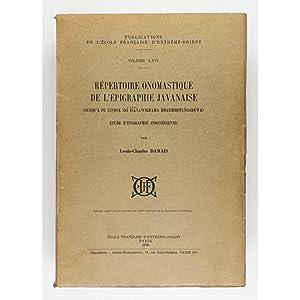 Repertoire Onomastique de l'Epigraphie Javanaise. (Jusqu'a Pu: Damais, Louis-Charles