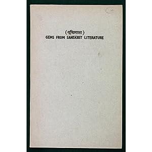 Gems from Sanskrit Literature.: Sharma, Dr. Aryendra