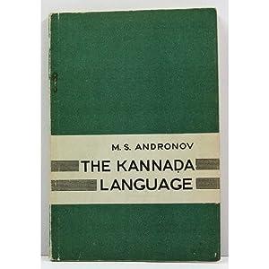 The Kannada Language.: Andronov, M.S.