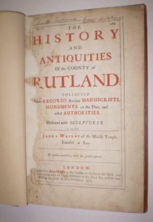 The History and Antiquities of the County: James Wright