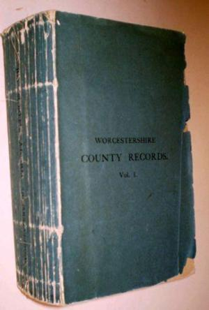 bund j w willis - worcestershire county records calendar of the