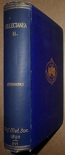Collectanea Second Series: Montagu Burrows