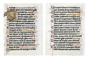 A leaf from a liturgical Psalter, in: Illuminated manuscript leaf
