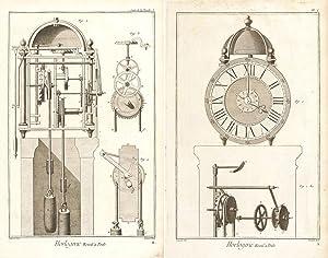 Horlogerie (Clock-making) Encyclopédie, ou dictionnaire raisonné des: Diderot, Denis.