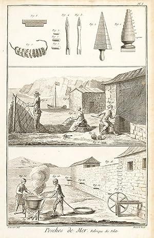 Pêches, Pêches de Mer, Pêches de Rivieres,: Diderot, Denis.