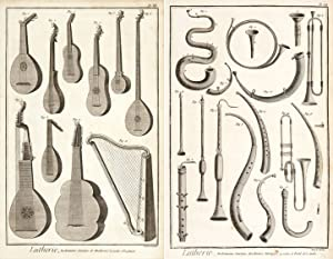 Lutherie (Musical Instrument Making). Encyclopédie, ou dictionnaire: Diderot, Denis.
