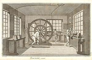 Tourneur et Tour a Figure (Turner and: Diderot, Denis.