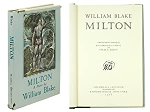 William Blake Milton edited and with a: Easson, Kay Parkhurst,