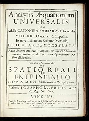 Analysis Aequationum Universalis, seu ad Aequationes Algebraicas resolvendas Methodus generalis, ...