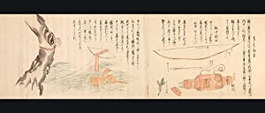 Two finely illustrated scrolls with 35 scenes: AINU PEOPLE OF