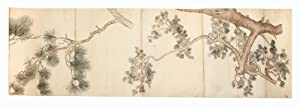 A finely executed picture scroll, measuring 374 x 14,900 mm., on mica paper, backed, ink & Japane...