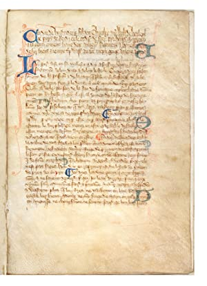 Decorated manuscript on vellum, in Anglo-Norman French, of Walter of Henley's Hosbondrye, seven l...