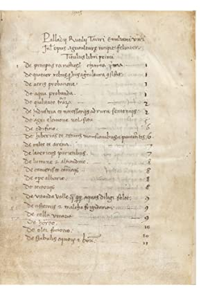 Manuscript on vellum of Opus Agriculturae, 112 leaves (the first blank), small 4to (155 x 115 mm....