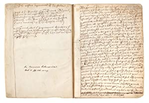 Manuscript on paper of an early version of Weston's highly important A Discours of Husbandrie use...
