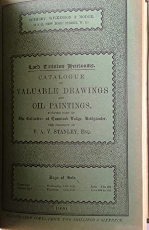 Sotheby, Wilkinson & Hodge. 6 auction sales catalogues bound as one. in green cloth. Engravings...