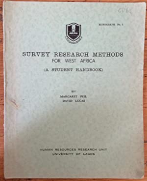 Survey research methods for West Africa : a student handbook