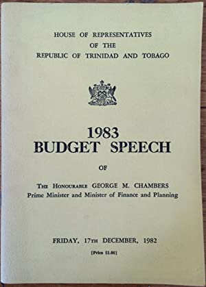 Budget speech, 1983 [of] George M. Chambers, Prime Minister and Minister of Finance & Planning