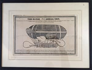 Large woodcut broadside of an early unsuccessful Anglo-French balloon/airship, from the 1830s. ?T...
