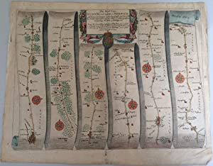 John Ogilby Plate 74: ?The Road from Ipswich com Suffolk to Norwich and thence to Cromer on the S...
