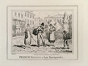 Regency caricature of London life. ?French musicians or, les savoyards.?