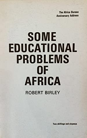 Some Educational Problems of Africa