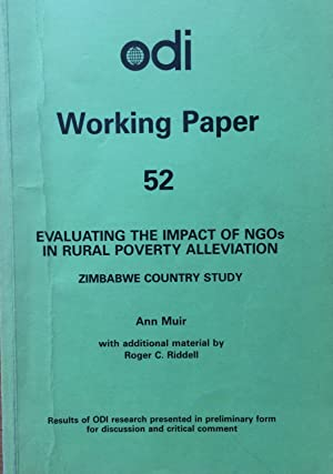Evaluating the impact of NGOs in rural poverty alleviation : Zimbabwe country study.