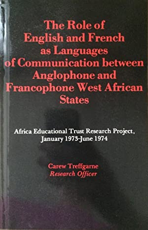 The role of English and French as languages of communication between anglophone and francophone w...