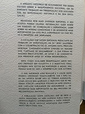 Mocambique : catalogo cartazes = Mocambique : catalogue posters: Berit Salstrom; Antonio Sopa