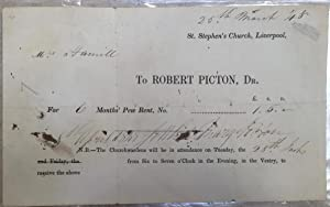 Receipt, printed and ink, for church pew