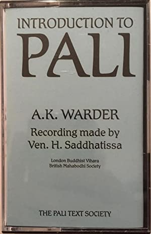 Introduction to Pali [audiocassette]: Warder, A.K. ;