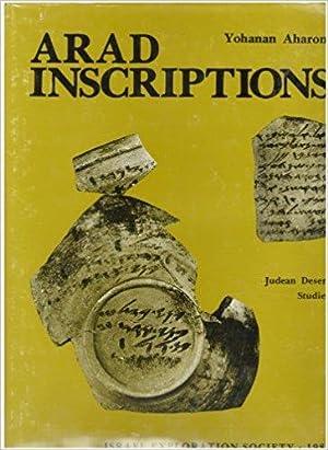 Arad inscriptions: Yohanan Aharoni ;