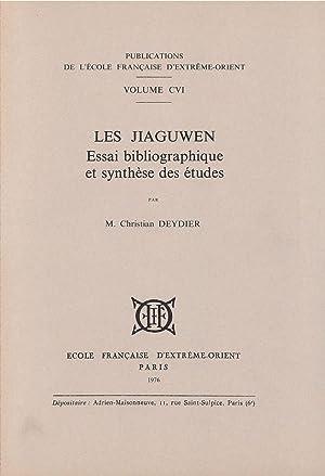 Les Jiaguwen : Essai Bibliographique et Synthese: Deydier Christian