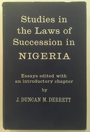 Studies in the laws of succession in Nigeria