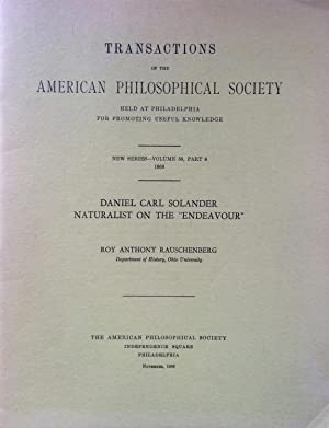 Daniel Carl Solander, naturalist on the