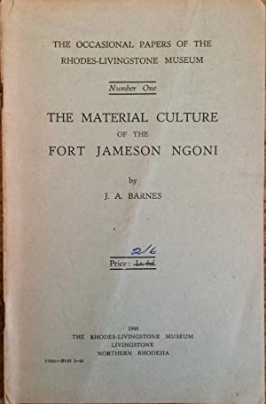 The Material Culture of the Fort Jameson: Barnes, J. A.