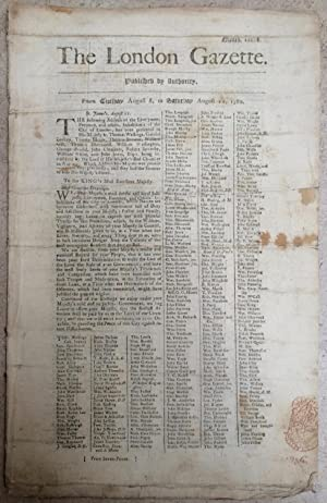 The London Gazette, From Tuesday August 8, to Saturday August 12, 1780