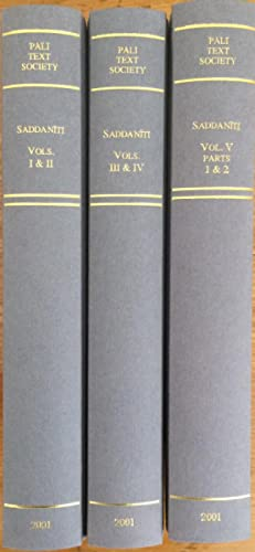 Saddaniti. 5 volume set in 3 books.: Aggavamsa