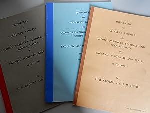 Suppliment to Clinker's Register of Closed Passenger: Clinker,C.R & J.M.Firth