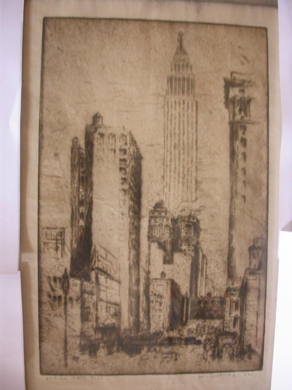 1 orig etching / Orig. Radierung ,: Drewes, Werner (Illustr.)