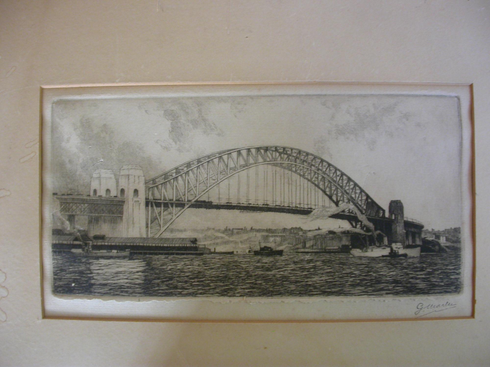 1 orig etching / Orig. Radierung .: Warner, Edward (Illustr.)