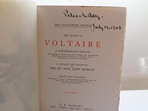 The Works of Voltaire - The Collectors Edition: Voltaire