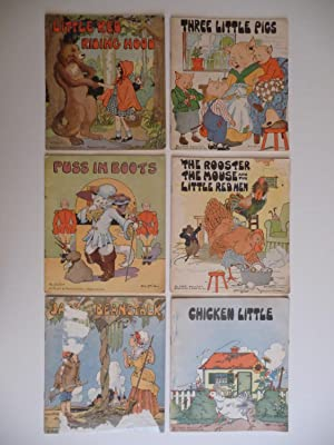 Six Colorful Children's Books: Little Red Riding Hood; Three Little Pigs; Puss in Boots; The ...