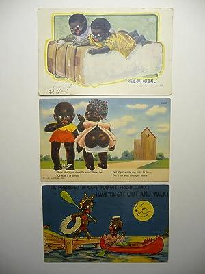 Three African American Postcards, (1907-1942)