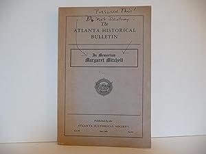 The Atlanta Historical Bulletin: Margaret Mitchell Memorial Issue. Vol IX, No. 34