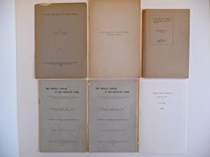 Group of Five Booklets: 1. Sir William Osler as a Bibliophile; 2. On the Library of a Medical ...