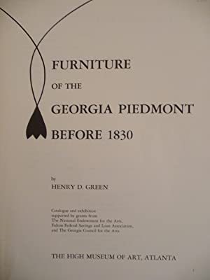 Furniture of the Georgia Piedmont Before 1830: Green, Henry D.