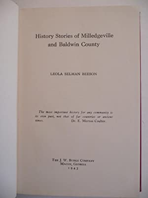 History Stories of Milledgeville and Baldwin County: Beeson, Leola Selman