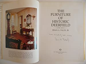 The Furniture of Historic Deerfield: Fales, Dean A., Jr.